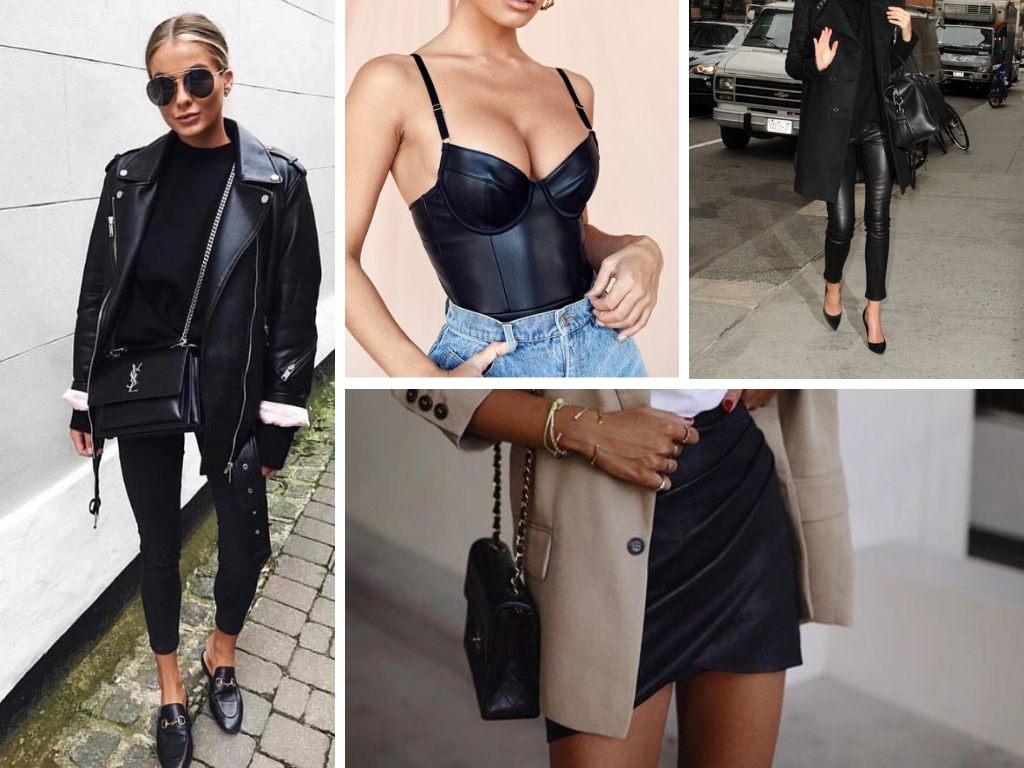 Leather look style